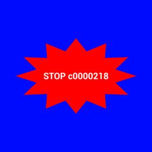 STOP: c0000218