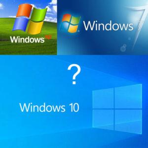 windows xp 7 10